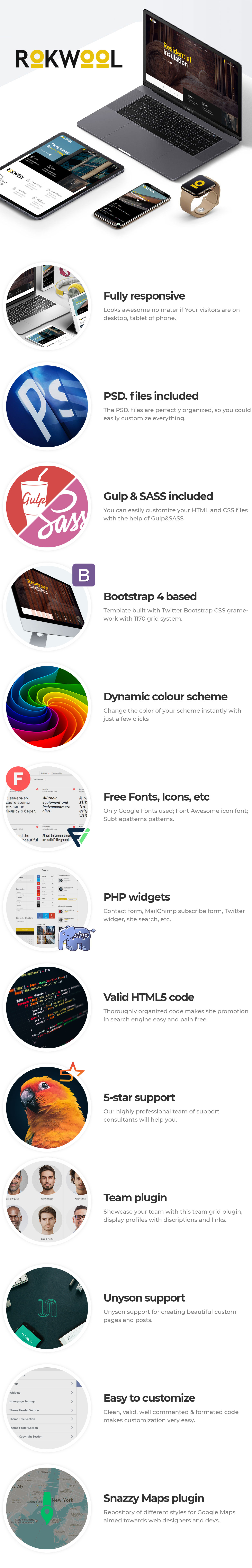 Rokwool - WordPress theme for Energy Efficiency and Insulation