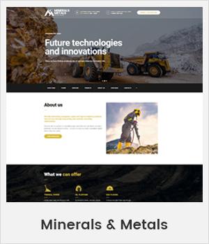 Minerals and Metals Industrial WordPress theme