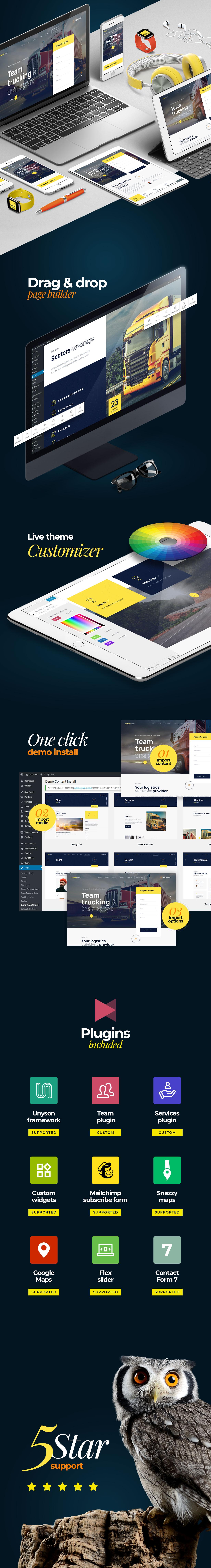 TrackTruck - Freight Brokerage and Logistics Company WordPress theme