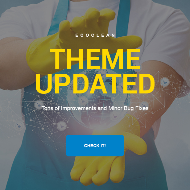 EcoClean - Cleaning company WordPress Theme