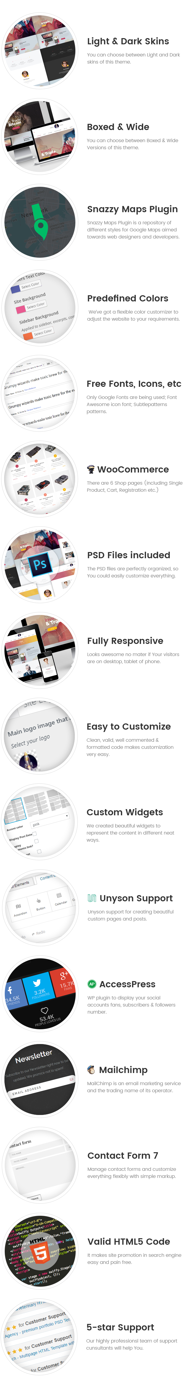 Coinster  - Bitcoin/Cryptocurrency  WordPress Theme