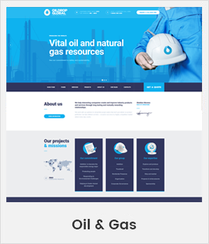 Oil and Gas Industrial WordPress theme