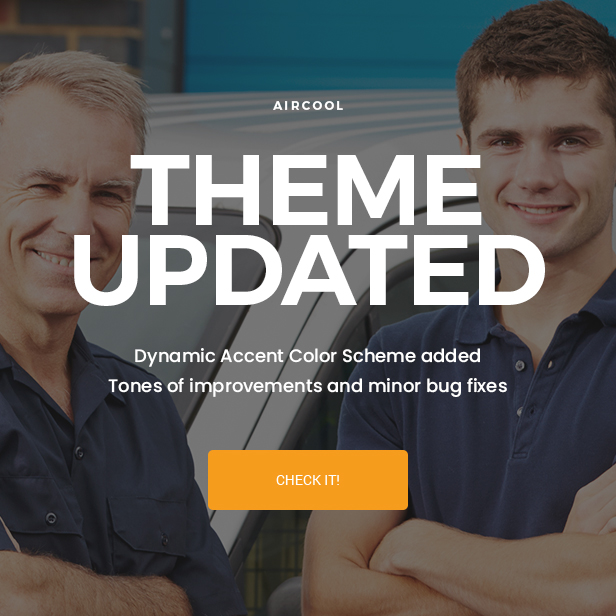 AirCool - Conditioning And Heating WordPress theme